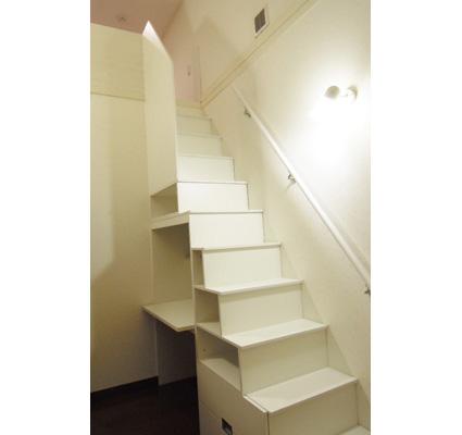 デスクタイプのロフト階段