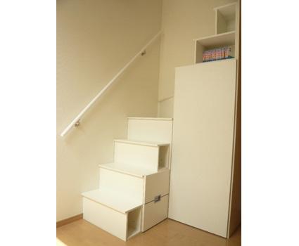 L型のロフト階段