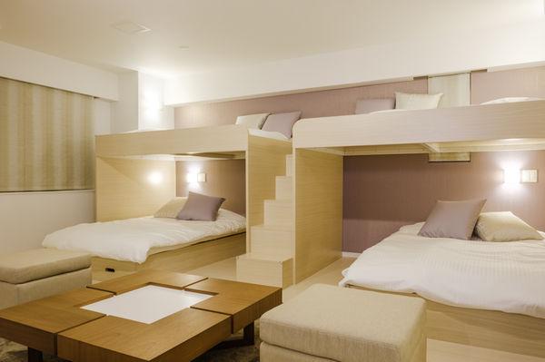 民泊用のベッド家具
